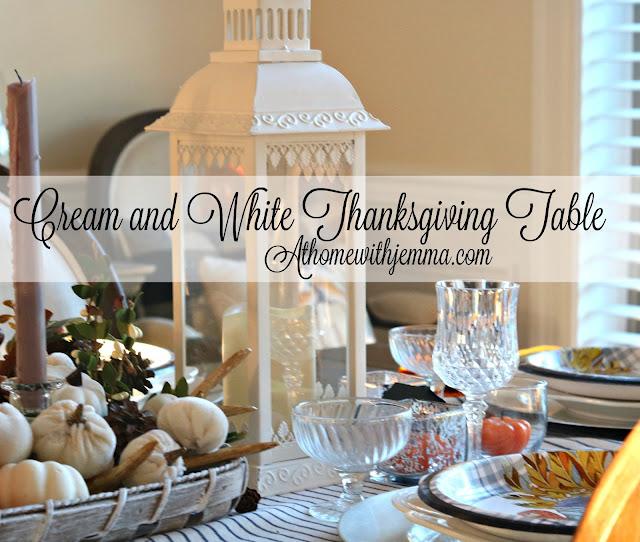 pumpkins, white, antlers, tobacco, basket, centerpiece, lanterns, white, cream, blue, athomewithjemma