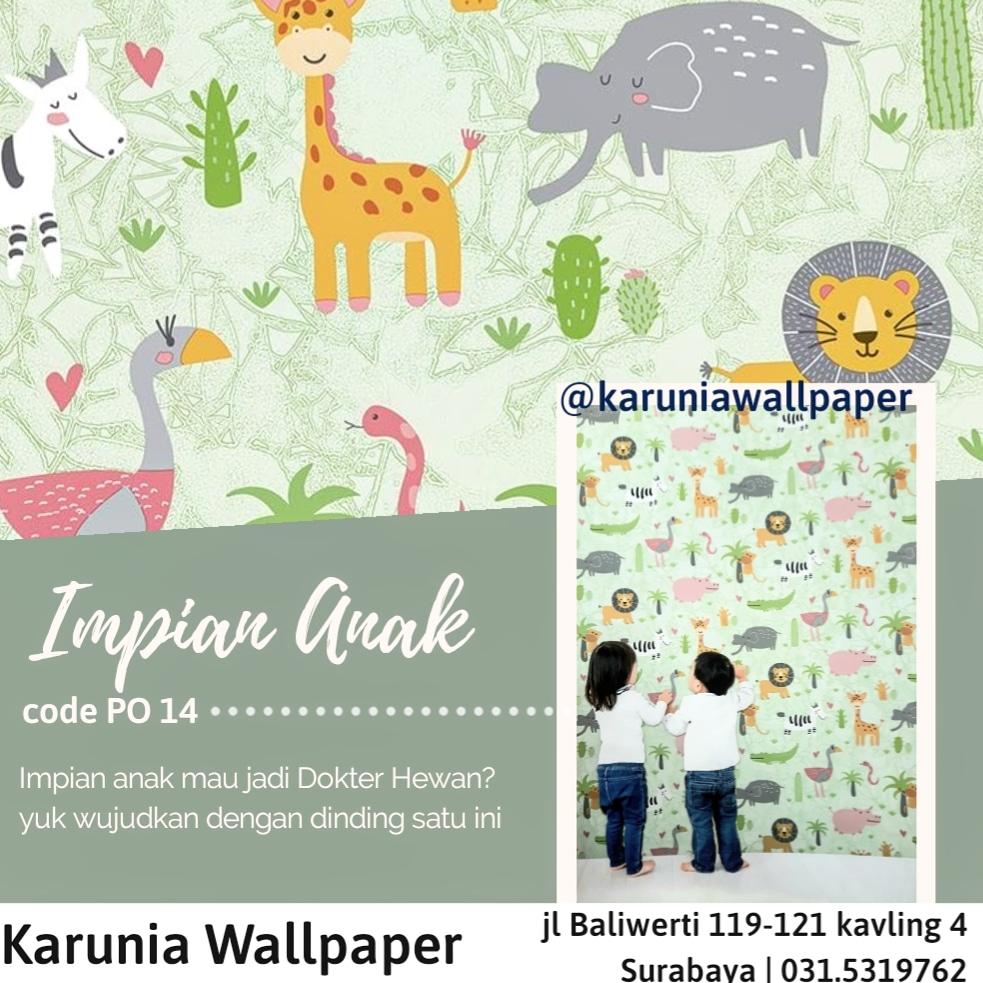 jual dinding wallpaper kartun