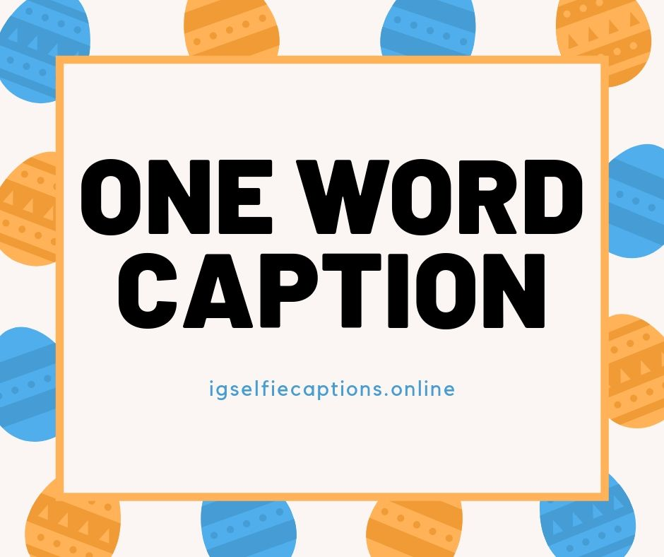 380 Best One Word Instagram Captions Ig Captions