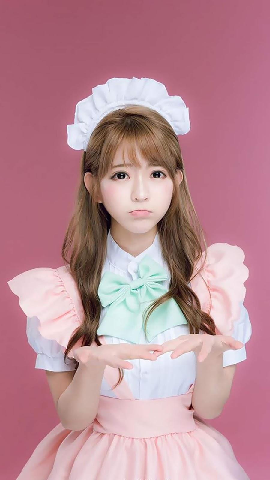 Cute maid Mobile Wallpaper