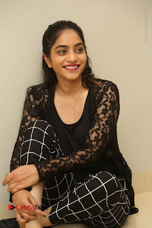 Actress Punarnavi Bhupalam Stills in Black Dress at Pittagoda Press Meet  0105.JPG