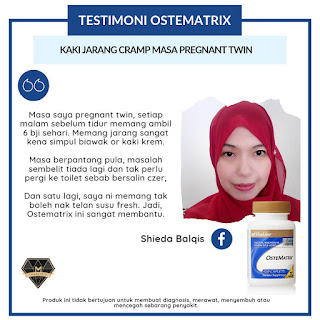 testimoni ostematrix shaklee selesaikan masalah cramp kejang ketika hamil