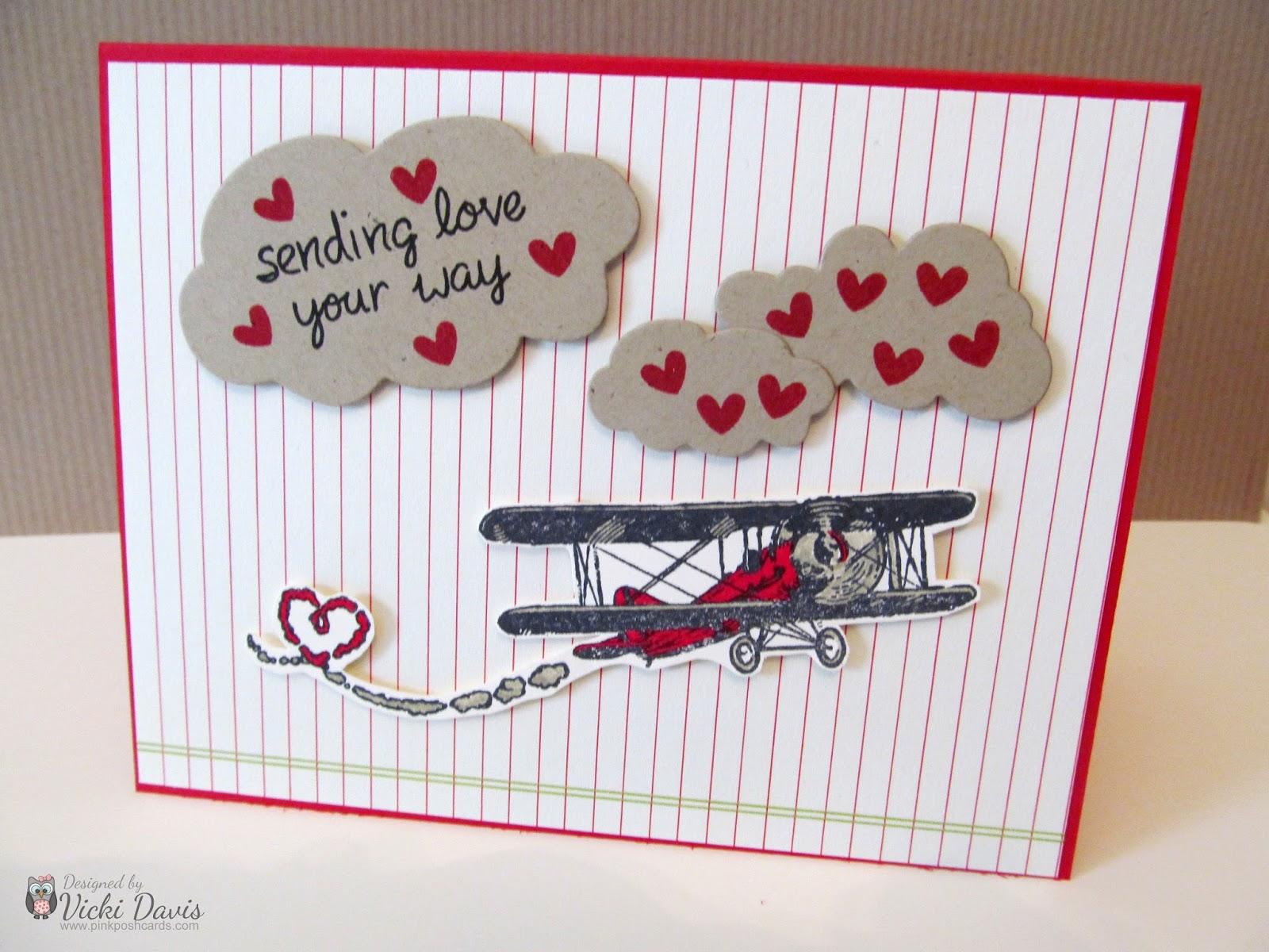 Pink Posh Cards Love Airplane