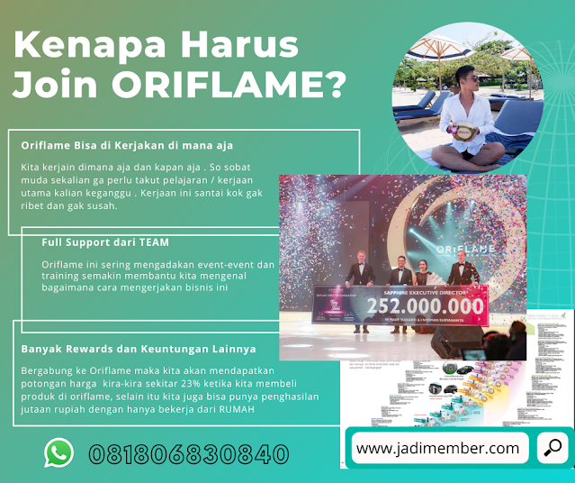 Alasan Join Oriflame dan Mengerjakan Bisnisnya?