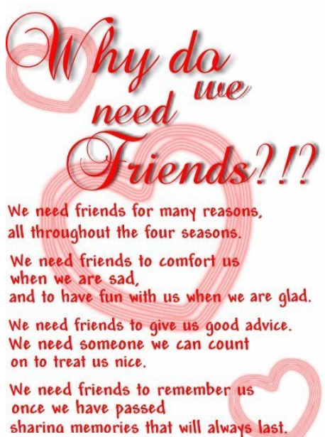 What is a 'FRIEND' & why do we need them..