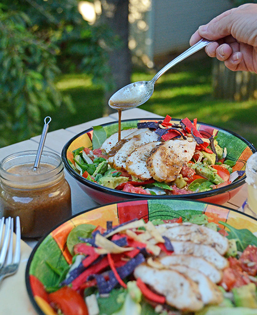 Tequila Chicken Salad with Lime Shallot Vinaigrette recipe