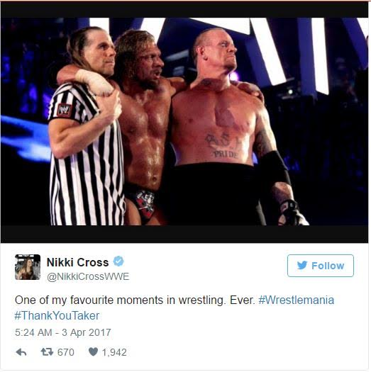(Video) Undertaker Retires After 30 years of Wrestling, Leaves Gear In Ring After WrestleMania