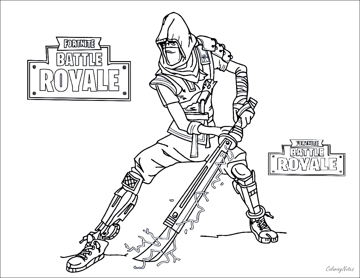 Fortnite Coloring Pages Battle Royale  Drift, Raven, Ice King