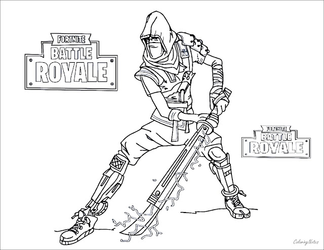 Fortnite Coloring Pages Battle