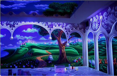 3D fluorescent wallpaper design ideas for kid's room walls 2019