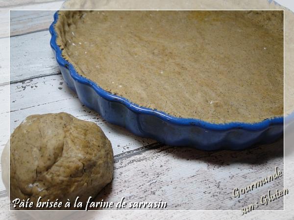 Pâte brisée salée sans gluten à la farine de sarrasin, pour quiche