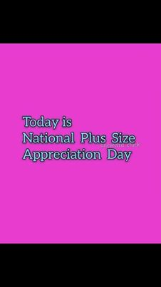 National Plus Size Appreciation Day Wishes for Instagram