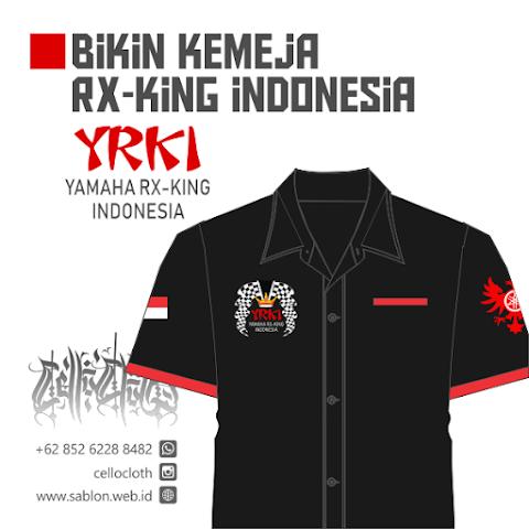 Bikin Kemeja Satuan RX King Indonesia Bordir Komputer