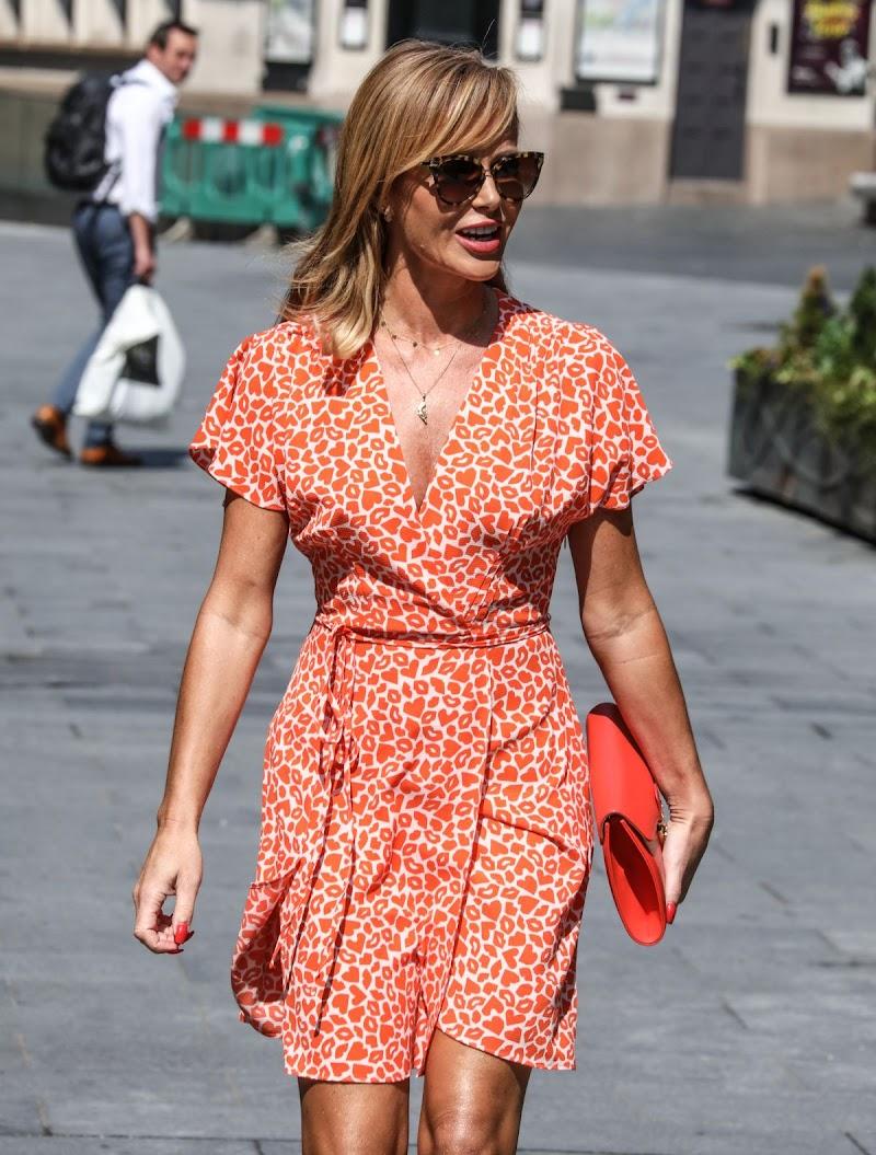 Amanda Holden Snapped in a Mini Dress - Leaves Heart Radio in London 24 Jun -2020