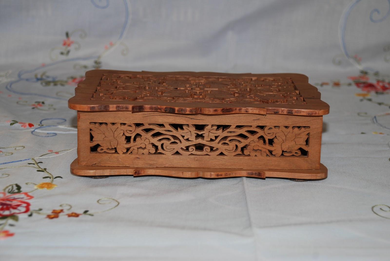 El arte de la marqueteria caja de madera de cerezo - Andaluza de marqueteria ...