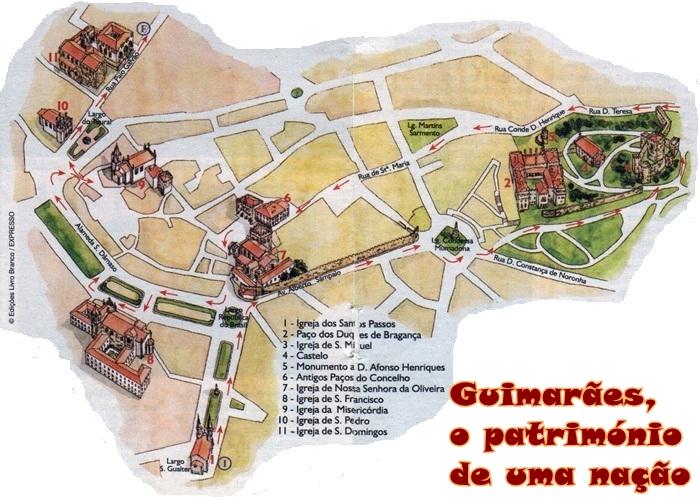 mapa turistico guimaraes Mapa Centro Historico Guimaraes | thujamassages mapa turistico guimaraes