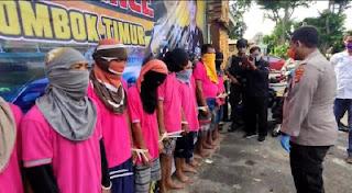 Operasi PEKAT, Polres Lotim Amankan 75 Orang Tersangka Kasus Pencurian, Perjudian dan Penjualan Miras