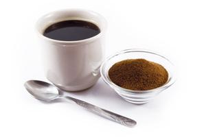 Bild mit Kaffeetasse une Chicorée Puder.