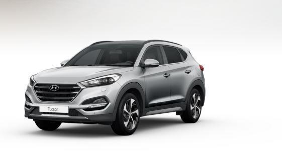 colori Nuova Hyundai Tucson 2016 Argento/Grigio Chiaro - Platinum Silver frontale davanti