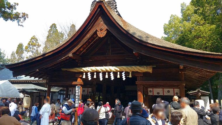 人文研究見聞録:豊年祭の時の大縣神社本殿