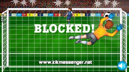 Convierte los mejores goles del campeonato con Free Kick Fury para Kik Messenger.