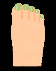ペディキュアのイラスト(緑)