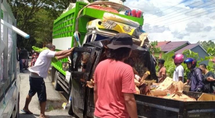 Kecelakaan di Jalan Poros Trans Sulawesi Selatan, 1 Orang Tewas Di TKP
