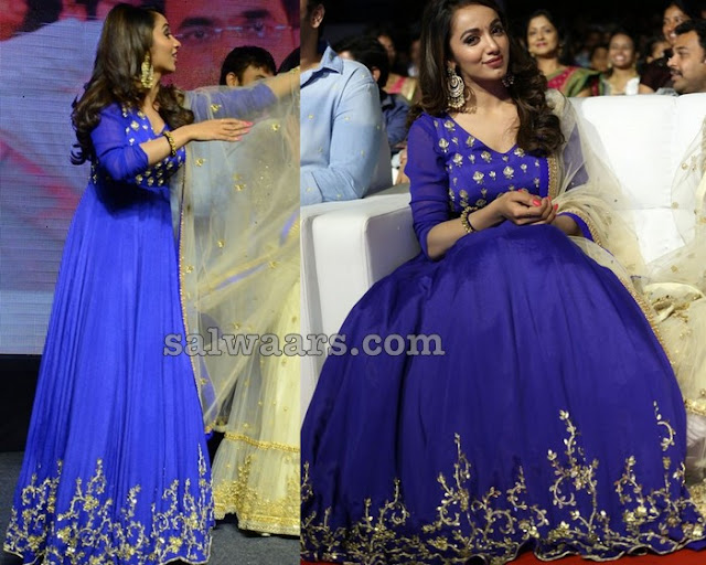 Tejaswi Madivada in Floor Length Salwar