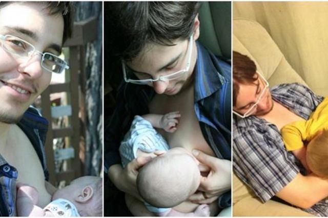 Padre transgénero amamanta a su hijo