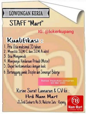 Lowongan Kerja Nam Mart Sebagai Staff Mart