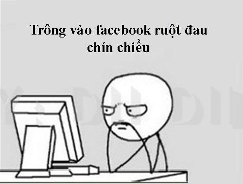 Thơ chế về Facebook qua tranh