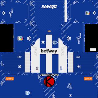 Deportivo Alavés 2019/2020 Kit - Dream League Soccer Kits