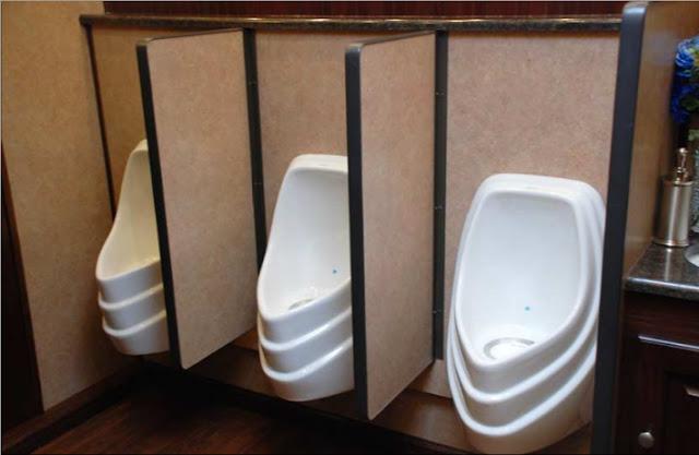 Odorless Urinals in Bathroom Trailer