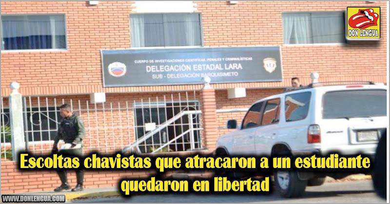Escoltas chavistas que atracaron a un estudiante quedaron en libertad