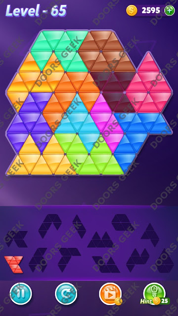 Block! Triangle Puzzle Grandmaster Level 65 Solution, Cheats, Walkthrough for Android, iPhone, iPad and iPod