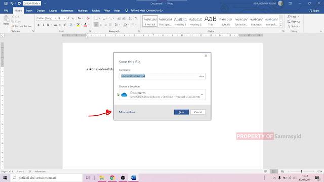 Cara menyimpan dokumen di Microsoft Word