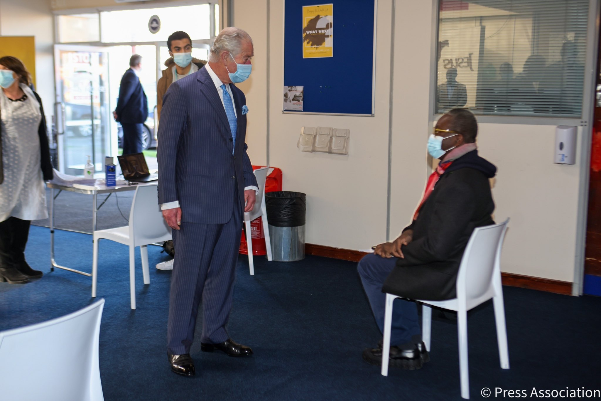 Earlier in the day, The Prince of Wales visited Jesus House in London, where a new NHS vaccine pop-up clinic has been put into action.