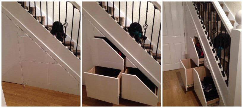First two then blue how to use the awkward spaces in your home - Smart storage for small spaces pict ...