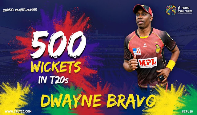 Dweyn Bravo 500 T20 Wickets