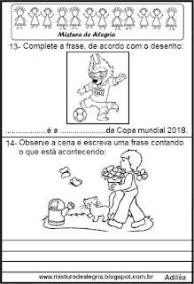 Simulado português 3º ano alfabetização