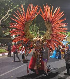 El desfile de Semarang.