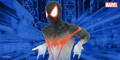 San Diego Comic-Con 2021 Exclusive Spider-Man Miles Morales Camouflage Edition 16 Scale Marvel Mini Bust by Diamond Select Toys x Gentle Giant