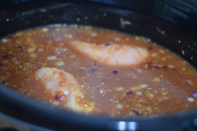 Mix everything up in the crockpot.