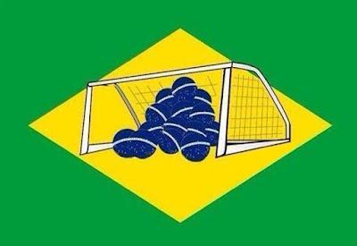 Pensamento brasileiro do Barão: O Brasil vai do ridículo ao patético, e vice-versa, em um segundo.  Enquanto isso mais um...gol da Alemanha!