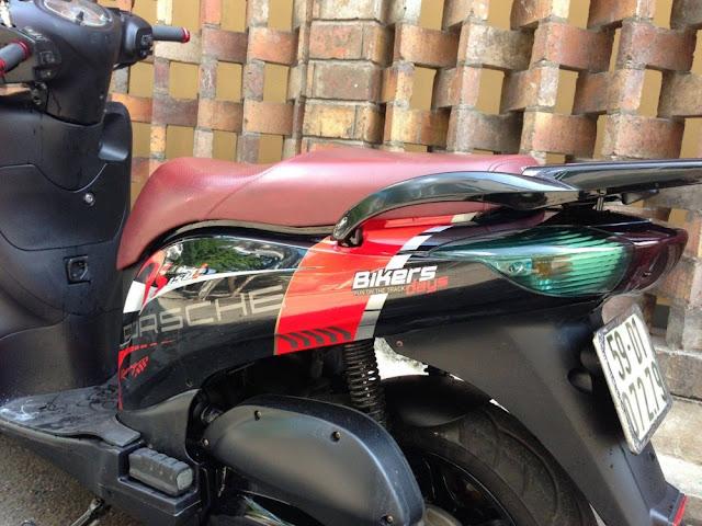 Sơn tem đấu xe Honda PS màu cam đen cực đẹp