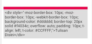 Cara Membuat Kotak Tulisan di Blog