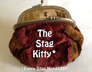 An old ladies purse as a stag do kitty