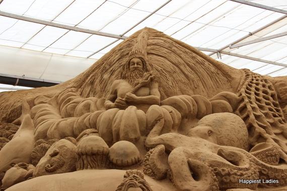 marine life sand sculpture 2