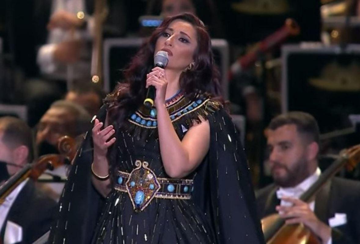 انشودة حفل نقل المومياوات الملكية (ترنيمة ايزيس) - غناء السوبرانو أميرة سليم