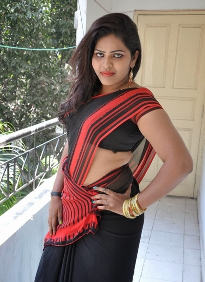 Actress Sitara Black Saree Photos  Actress Saree Photos -8474
